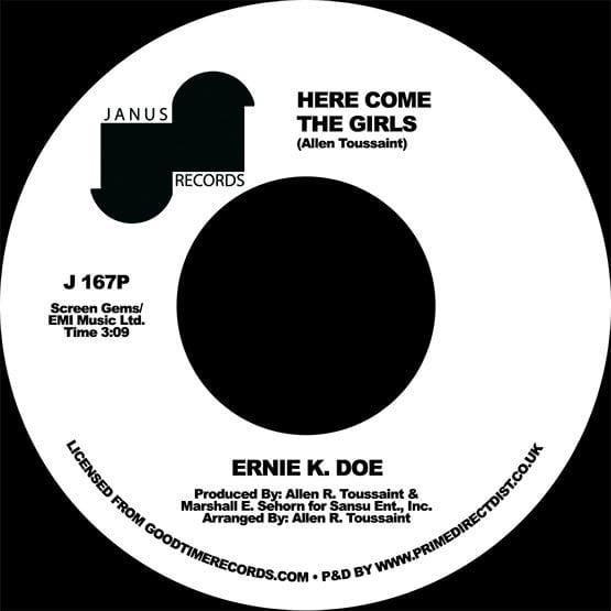Ernie K. Doe – Here Come The Girls / Back Street Lover